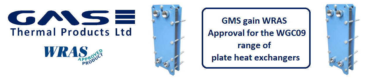GMS Gain WRAS Approval of a range of Plate Heat Exchangers